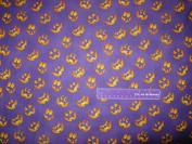 110cm Wide RJR Jack-O-Lantern Purple Cotton Fabric BY THE HALF YARD