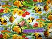 110cm Wide Pillow Pets Bumblebee Cotton Fabric BY THE HALF YARD