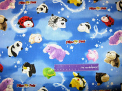 110cm Wide Pillow Pets Clouds Cotton Fabric BY THE HALF YARD