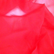 Red Crystal Organza Fabric - per metre