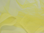 140cm wide Dress Net Fabric Yellow - per 2 metres