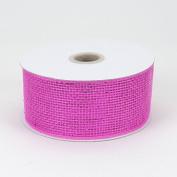 Fuchsia Metallic Deco Mesh Ribbons 6.4cm x 25 yards