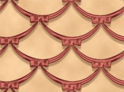 110cm Wide Gone With The Wind Garland Beige Cotton Fabric BY THE HALF YARD