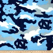 University of North Carolina Fleece Camo Blue Fabric