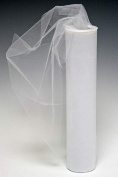 Spool of 30cm Wide White Tulle Netting - 25 yard Roll