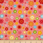 Riley Blake Hello Sunshine Petals Pink Fabric By The YD