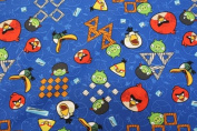 Angery Bird Print Cotton Fabric 110cm /110cm Width By The Yard