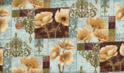 'Windflower' Poppy Sampler Cotton Fabric By the Yard