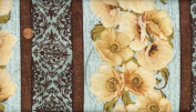 'Windflower' Poppy Stripe Cotton Fabric By the Yard