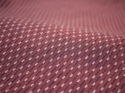 Cotton woven fabric pattern Kurume colour : Hail Burgundy