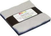 Kona Cotton Solids Charm Square 13cm Pre-cut Silent Film
