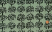 Alexander Henry 'A Ghastlie Family Forest' on Headstone Green Cotton Fabric By the Yard