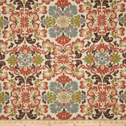Waverly Folk Damask Terracotta Fabric