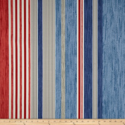 P Kaufmann Indoor/Outdoor The Right Stripe Blue Marine Fabric