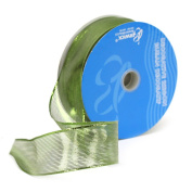 Berwick 3.8cm Wide by 50 Yard Spool Wired Edge Meissa Craft Ribbon, Citrus