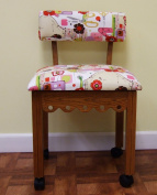 Arrow Oak Sewing Chair