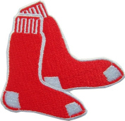 MLB Boston Red Sox iron-on patch.