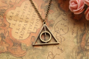 Harry Potter Necklace,retro Bronze Deathly Hallows Pendant Necklace,so Cute and Lovely Necklace,fashion Jewellery,friend Gift