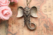 Auspicious Necklace,hollow Out Elephant Necklace,the Best Gift for Your Girl Friend and Friens,fashion Necklace,fashion Jewelr
