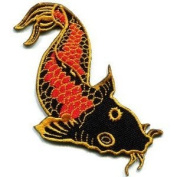 Japanese Koi Carp Fish Applique Iron-on Patch