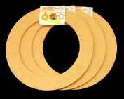 3 Pack, 23cm Biodegradable Floral Craft Ring, Ez Glueable Wreath / Laurel Form, for Photo Frame, Candle Ring, Etc