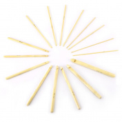 "16 x 2mm - 12mm Bamboo Crochet Hooks Knitting Needle Weave 15cm/6"" Craft Set New"