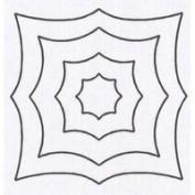 Spider Web Quilting Stencil