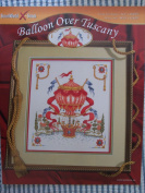 Balloon Over Tuscany Counted Cross Stitch