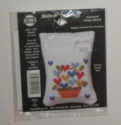 Stitch 'N Stuff Counted Cross Stitch Magnet ~ Basket of Love (hearts) #1490