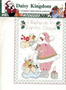 Daisy Kingdom Stamped Cross Stitch Sampler, I Believe in Santa
