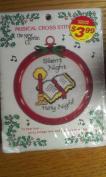 Large Musical Cross Stitch Ornament
