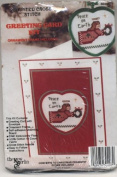 Counted Cross Stitch Holiday Greeting Card Kit Peace on Earth