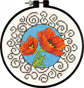 Dimensions Crafts NeedleCrafts Counted Cross Stitch, Poppies