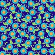 Lark - Button Flowers - Navy (PWAB077.NAV) half yard by Amy Butler