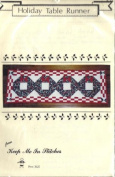 Holiday Table Runner 46cm x 140cm [Quilting Pattern - Holiday Wreaths]