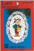 Lace Cross Stitch Ornament Kit Drummer Boy