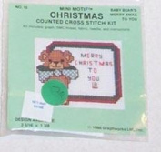Baby Bear's Merry Xmas To You - Mini Motif Christmas Counted Cross Stitch Kit - 109