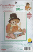 BEAR CRACHIT COUNTED CROSS STITCH KIT FROM GLORIA & PAT 13cm X 18cm #139-111