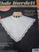 DALE BURDETT DESIGNER COLLAR KIT - CROSS STITCH KIT INCLUDES EMBROIDERED AUSTRIAN LACE FROM YOURS TRULY - WASTE CANVAS PROJECT