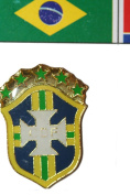 Brasil Brazil CBF FIFA World Cup Metal Lapel Pin Badge New