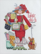 Bucilla Alma Lynne Counted Cross Stitch Kit, 20cm by 28cm , Fabric Diva