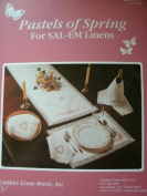 PASTELS OF SPRING CROSS STITCH FOR SAL-EM LINENS OR OTHER XS PROJECTS LEAFLET 51 FROM CAROLINA CROSS STITCH INC.