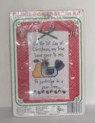 New Berlin Ornament Counted Cross Stitch Kit - 1st Day of Christmas Partridge in a Pear Tree