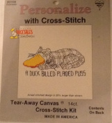 A Duck Billed Plaided Puss - Ducktales Personalised with Cross Stitch Kit #057008
