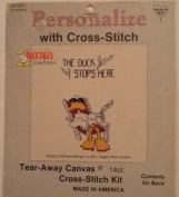 The Duck Stops Here - Ducktales Personalised with Cross Stitch Kit #057001