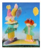 Vintage Martinsville New Plastic Canvas Needlepoint Balloon Sale