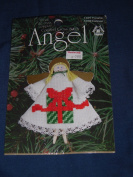 """1997 Designs for the Needle """"Present"""" Counted Cross-Stitch Angel Pattern Kit 1489"""
