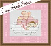 Cherub Baby in Pink Cross Stitch