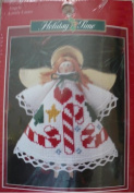 Angel with Candy Cane - Cross Stitch Ornament Kit #351458