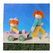 Vintage Martinsville New Plastic Canvas Needlepoint Waggon Ride